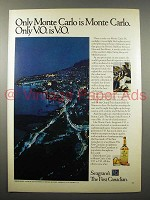 1973 Seagram's V.O. Canadian Whisky Ad - Monte Carlo