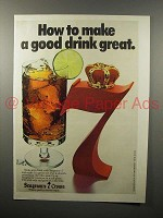 1978 Seagram's 7 Crown Whiskey Ad - Good Drink Great