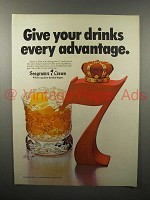 1978 Seagram's 7 Crown Whiskey Ad - Every Advantage