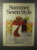 1979 Seagram's 7 Crown Whiskey Ad - Summer Style
