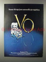 1980 Seagram's V.O. Canadian Whisky Ad - Naturally