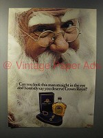 1981 Seagram's Crown Royal Whisky Ad - You Deserve