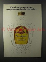 1981 Seagram's Crown Royal Whisky Ad - Draws Conclusion