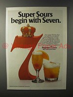 1981 Seagram's 7 Crown Whiskey Ad - Super Sours