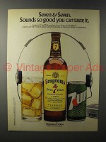 1981 Seagram's 7 Crown Whiskey Ad - Seven & Seven