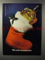 1983 Seagram's Crown Royal Whisky Ad - Runneth Over