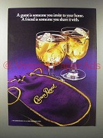 1985 Seagram's Crown Royal Whisky Ad - Share It With