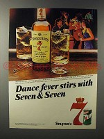 1985 Seagram's 7 Crown Whiskey Ad - Dance Fever