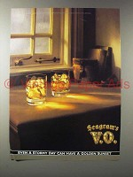 1990 Seagram's V.O. Canadian Whisky Ad - Stormy Day