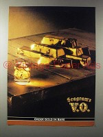1990 Seagram's V.O. Canadian Whisky Ad - Gold in Bars