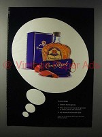 1992 Seagram's Crown Royal Whisky Ad - Instructions