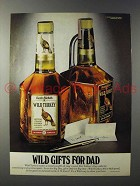 1980 Wild Turkey Bourbon Ad - Wild Gifts for Dad