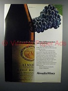 1972 Almaden Gamay Beaujolais Wine Ad - Greatness