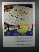 1972 Taylor Champagne Ad - Taste the Difference