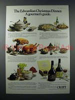 1973 Croft Port Ad - Edwardian Christmas Dinner