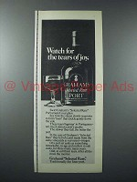 1974 Graham's Select Rare Port Ad - Tears of Joy