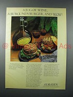 1977 Almaden Mountain Red Burgundy Wine Ad - Burger