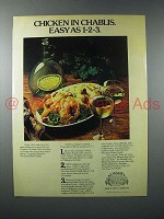 1978 Almaden Mountain White Chablis Wine Ad - Chicken
