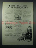 1978 Bolla Wine Ad - 13th Guide to Italian Restaurants