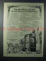 1979 Bolla Wine Ad - 4th Guide to Italian Christmas