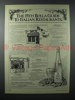 1979 Bolla Wine Ad - 15th Guide to Italian Restaurants