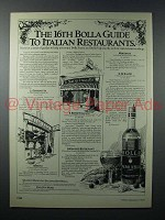 1979 Bolla Wine Ad - 16th Guide to Italian Restaurants