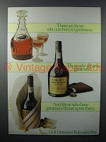 1980 Croft Distinction Port Ad - Born to Greatness