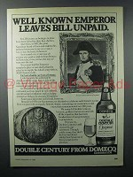 1980 Domecq Double Century Sherry Ad - Known Emperor
