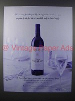 1999 Mouton-Cadet Wine Ad - Enjoyment More Poignant