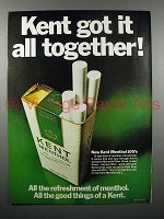 1970 Kent Menthol 100's Cigarette Ad - All Together