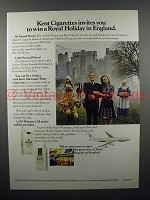 1971 Kent Cigarette Ad - Royal Holiday in England