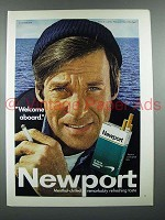 1970 Newport Cigarette Ad - Welcome Aboard