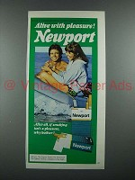 1976 Newport Cigarette Ad - Alive With Pleasure