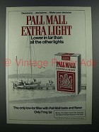 1978 Pall Mall Extra Light Cigarette Ad - Lower in Tar