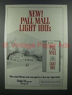 1978 Pall Mall Light 100's Cigarette Ad!