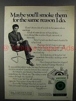 1973 Vantage Cigarette Ad - Same Reason I Do