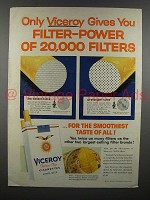 1957 Viceroy Cigarette Ad - Gives Filter-Power