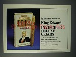 1978 King Edward Invincible Deluxe Cigar Ad!