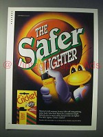 1994 Cricket Cigarette Lighter Ad - The Safer Lighter