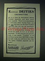 1902 Egyptian Deities Cigarette Ad!