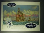 1958 Senior Service Cigarette Ad - H.M.S. Ark Royal