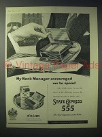 1958 State Express 555 Cigarette Ad - Bank Manager