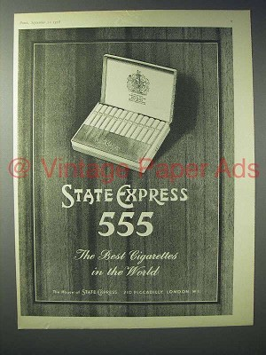 1958 State Express 555 Cigarette Ad The Best