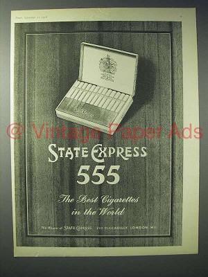 1958 State Express 555 Cigarette Ad
