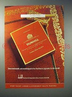 1973 Dunhill Cigarette Ad - Acknowledged