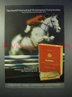 1973 Dunhill International Cigarette Ad - Showjumping