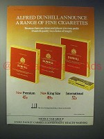 1975 Dunhill Premium, King, International Cigarette Ad