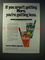 1975 More Cigarette Ad - You're Getting Less