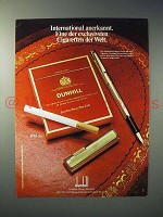 1977 Dunhill Cigarette Ad - in German - der exclusivsten Cigaretten