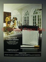 1977 Lambert & Butler Cigarette Ad - The World